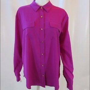 Juicy Couture Fuchsia Button Down Blouse